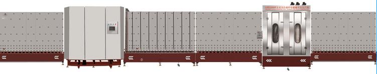 立式中空玻璃板内合平压生产线